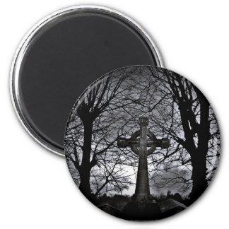 Gothic celtic cross grave magnet