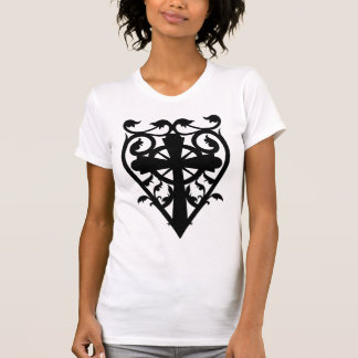Gothic cemetery celtic cross in heart T-Shirt