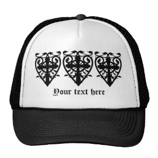Gothic cemetery celtic cross in heart trucker hat