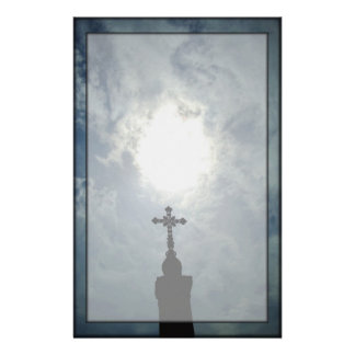 Gothic cemetery open heavens stationery