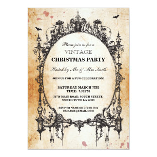 Gothic Christmas Vintage Invitation Party