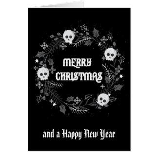 Gothic Christmas Wreath Card