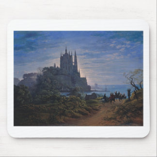 Gothic Church on a Rock by the Sea by K. Schinkel Mouse Pad