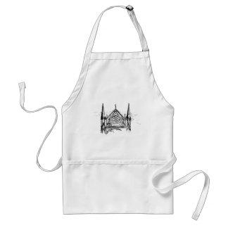 Gothic church painting standard apron
