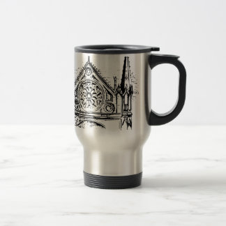 Gothic church painting travel mug