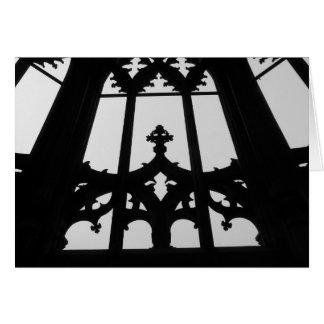 Gothic church window greeting card
