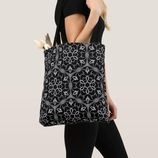 Gothic church window pattern tote bag