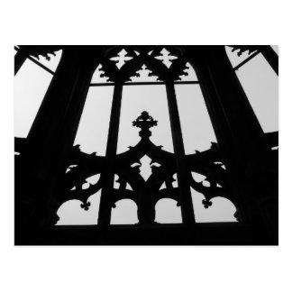 Gothic church window postcard