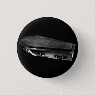 Gothic Coffin Goth button pin