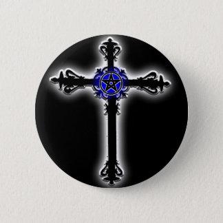 Gothic Cross 2 Inch Round Button