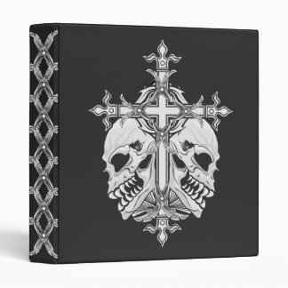 Gothic Cross and Skulls 3 Ring Binders