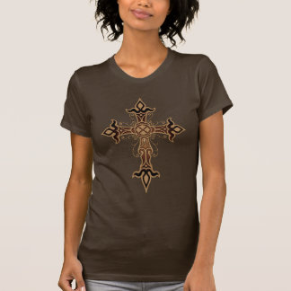 Gothic Cross (brown) T-Shirt