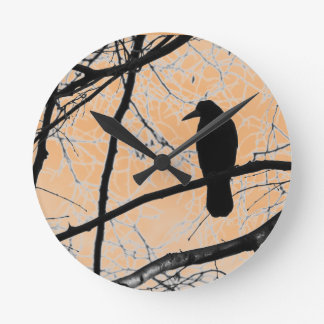 Gothic Crow Wall Clock