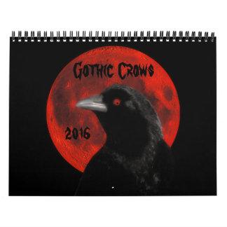 Gothic Crows 2016 Wall Calendar