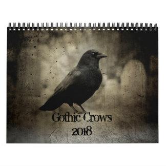 Gothic Crows 2018 Wall Calendar