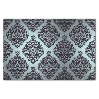 Gothic,damasks,teal,black,vintage,victorian,grunge Tissue Paper