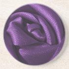 Gothic Dark Purple Rose Coaster