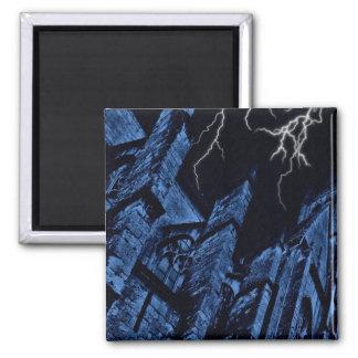 Gothic dark storm fantasy blue magnet