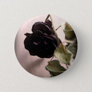 Gothic Dead Rose 2 Inch Round Button