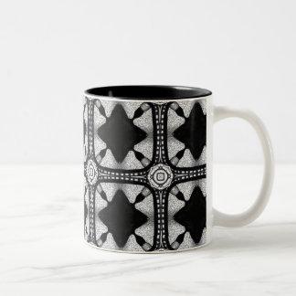 Gothic Design Two-Tone Coffee Mug