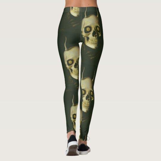 Gothic Devil Skull Leggings