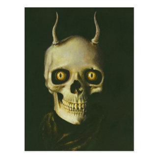Gothic Devil Skull Postcard