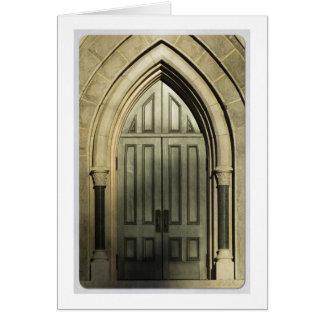 Gothic Door Card