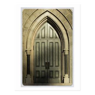Gothic Door Postcard