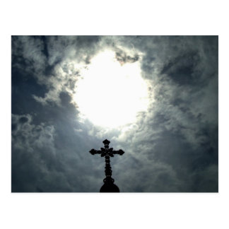 Gothic Easter cross Postcard