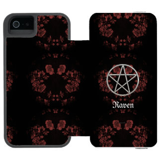 Gothic Eternal Pentacle Mauve Incipio Watson™ iPhone 5 Wallet Case