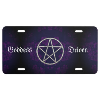 Gothic Eternal Pentacle Purple License Plate