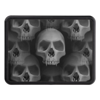 Gothic evil fanged skulls hitch covers