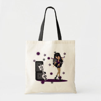Gothic Faerie with Skull Guitar Budget Tote Bag