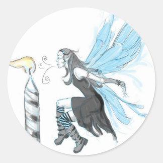 Gothic Fairy 4 Round Sticker