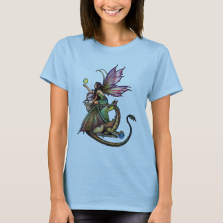 Gothic Fairy and Dragon Ladies T-Shirt