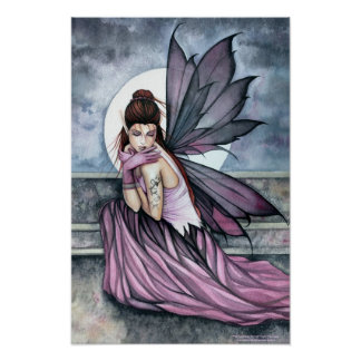 Gothic Fairy Art Poster by Molly Harrison
