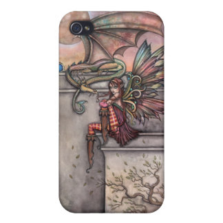 Gothic Fairy Dragon iPhone Case by Molly Harrison iPhone 4 Cover