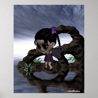 Gothic Fairy Girl So Sad 1 Poster