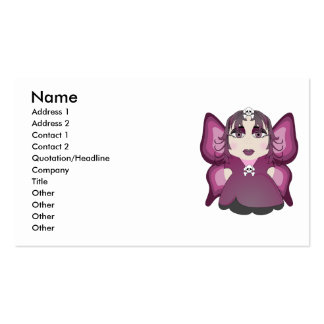 Gothic Fairy In Pink Business Card