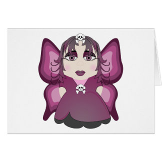 Gothic Fairy In Pink Greeting Card