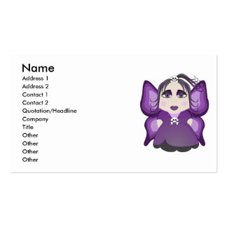 Gothic Fairy In Purple Business Card