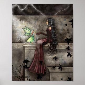 Gothic Fairy Poster Fantasy Art Print