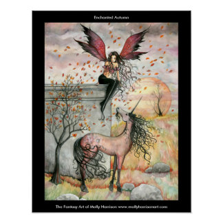 Gothic Fairy Unicorn Poster