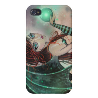 Gothic Fairy Vampire in Green Fantasy Art Cover For iPhone 4