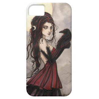 Gothic Fantasy Art Witch and Raven iPhone 5 Case