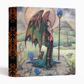 Gothic Fantasy Fairy and Cat Art 3 Ring Binders