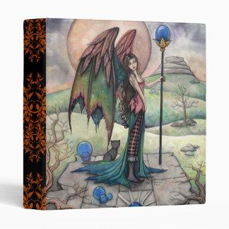 Gothic Fantasy Fairy and Cat Art Binder