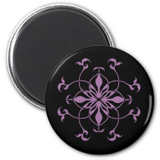 Gothic flower purple and black magnet