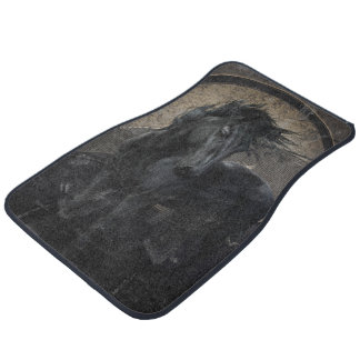 Gothic Friesian Horse Car Mat
