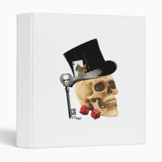 Gothic gambler skull tattoo design vinyl binders